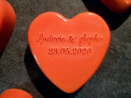Savons personnalisés Mariage Ludovic & Sophie
